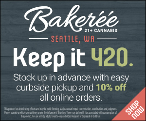 The Bakeréé Cannabis Dispensary Retail Display Ad