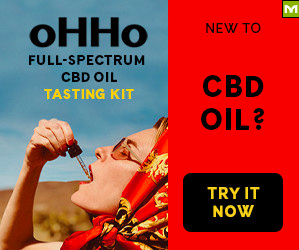 OHHO Hemp CBD Oil Tasting Kit Display Ad